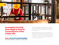 Leveraging Licensing Technology to Uncover Comprehensive Value in Base Oils thumbnail